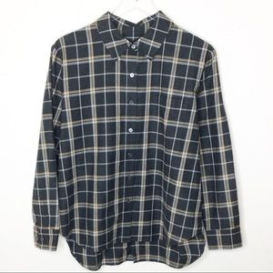 NWT Jenni Kayne Button Back Plaid Flannel S